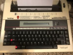Brother Sk 100 Portable Electronic Correctronic 360 Word Processing Typewriter