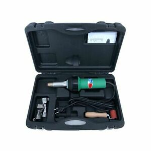 1600w 110v Affordable Easy Grip Hand Held Plastic Hot Air Welding Gun 2 Nozzles