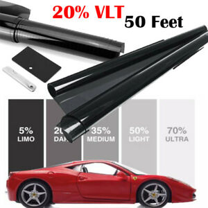 20 Vlt 24 50ft Feet Car Home Commercial Office Window Tint Auto Tinting Film