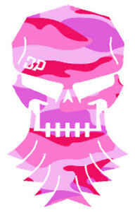 Diesel Power Brothers Skull Pink Camo Camouflage Decal Graphic Matte