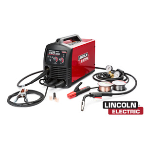 Lincoln Electric K4498 1 Power Mig 140 Mp Multi process Welder W Free Hat