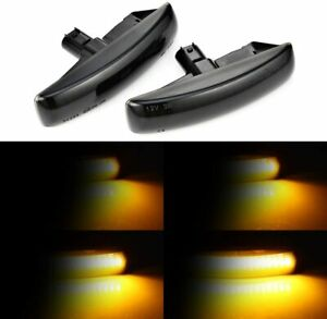 2x Range Rover Sport L320 Lr2 Lr3 Lr4 Smoke Led Side Marker Turn Signal Light