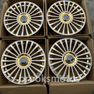 20 Chrome Gold M Style Wheels Rims Fits For Mercedes Benz W222 S Class S600