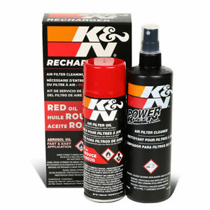 K n99 5000 Air Filter Cleaning Cleaner Dissipates Grime Oil Recharger Combo Kit