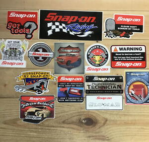 New Vintage Snap on Tools Lot 14 Tool Box Stickers Decals Man Cave Window 1