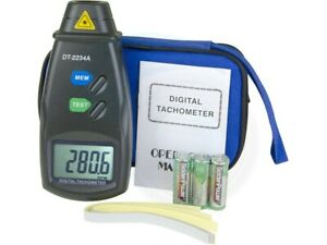 Digital Laser Photo Tachometer Non contact Rpm Speed Meter W Strips
