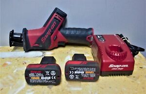 Snap On Ctrs761 Reciprocating Saw With 2 Battery And Charger