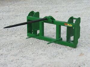 John Deere 600 700 Series Loader Low Back Hay Spear Attachment 48 Spike