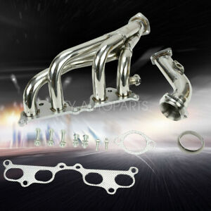 Tri Y Exhaust Manifold Performance Header For Toyota Tacoma 1995 01 2 4l 2 7l L4
