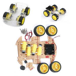 Diy 4wd Smart Robot Kits Robot Car Chassis Magneto Speed Encoder Arduino 51