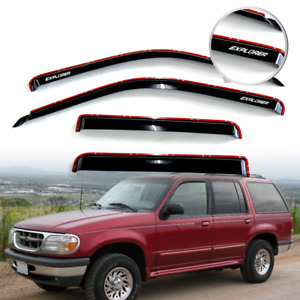 Fit For 91 01 Ford Explorer In Channel Window Visor Rain Shade Guard W Explorer