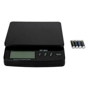 Postal Scale Digital Shipping Electronic Mail Packages 30kg 1g 66lb Black Us Ivr