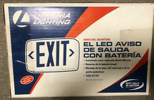 Lithonia Lighting Led Emergency Exit Sign With Red Letters