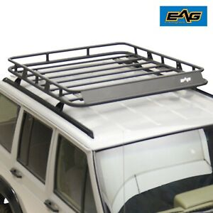 Eag Steel Cargo Rack Rooftop W Wind Deflector Fit 84 01 Jeep Cherokee Xj
