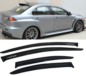 Fit For 08 17 Mitsubishi Lancer 4door Window Visor Rain Wind Vent Guard Shade