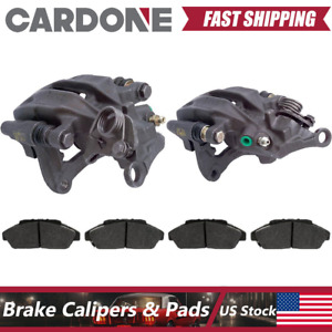 For Audi 80 Quattro 1989 1992 Rear Kit Brake Caliper And Bracket Metallic Pads