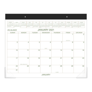 At a glance Executive Monthly Desk Pad 21 3 4 X 17 Jan dec 2021 Gg25000021