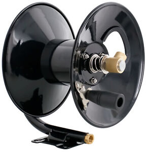 Steel Dragon Tools 4000 Psi 50 Black Powder Coated Pressure Washer Hose Reel