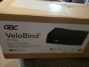 Gbc Velobind V110e Electric Binding System Black 24 Page Punch Capacity New