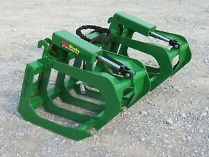 60 Dual Cylinder Root Grapple Attachment Fits John Deere Tractor Loader