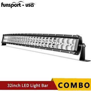 32inch 420w Led Light Bar Spot Flood Combo Fits Ford Offroad Truck Suv Atv 30 In