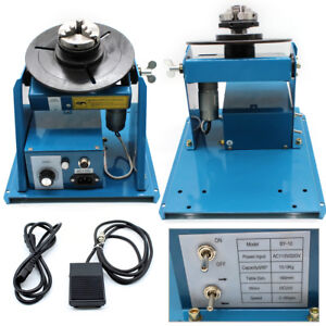 10kg Rotary Welding Positioner Turntable Welder Table 2 5 3 Jaw Lathe Chuck