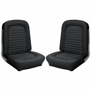 1966 1967 Ford Bronco Replacement Seat Upholstery Front Buckets Black
