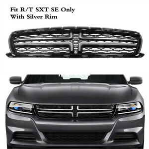 Center Grille Grill Mesh Silver Trim Radiator Fit For Dodge Charger 2015 2020