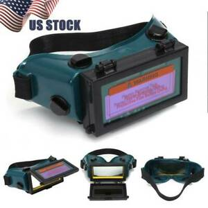 Solar Powered Auto Darkening Welding Mask Helmet Eyes Goggle Welder Glasses Us