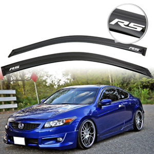 Fit For 08 12 Honda Accord Coupe Window Visor Shade Rain Guard Vent W Rs