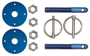 Keyser Manufacturing Hood Pins Torsion Pin Style Aluminum Blue Anodized Pair