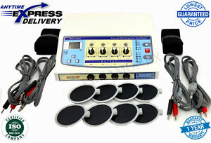 Professional Electrotherapy Physical Therapy Machine 4 Channel Pain Relief Dhl U