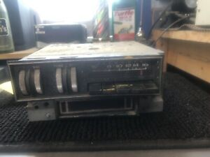 1969 70 Plymouth Fury Am Push Button Radio With Thumb Wheel 8 Track