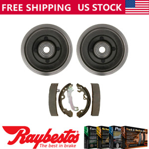 Rear Kit Brake Drums Brake Shoes For 2009 2010 2011 Ford Focus Raybestos