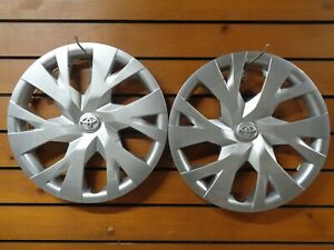 Pair Of 2 New 15 Hubcaps Wheel Covers Fits 2018 2020 Toyota Yaris 61184