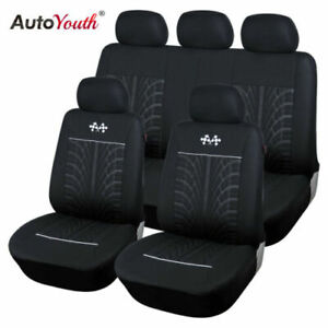 Car Seat Cover Protector Car Interior Decoration Full Set Of Front Rear Black