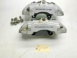 03 10 Cayenne S Awd Porsche 957 L R Front Brembo Brake Calipers 18zl 18zr Pair