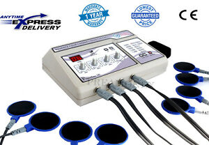 Professional Electrotherapy Physical Therapy Machine 4 Channel Pain Relief Dhl