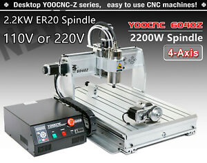 6040 2 2kw Er20 Spindle 6040z 2200w Cnc Router Engraver Drilling Milling Machine