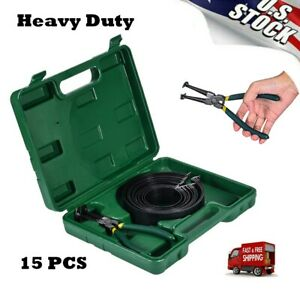Professional Piston Ring Compressor Cylinder Installer W Plier 14 Band Tool Us