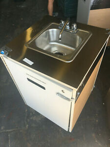 Millwork Portable Sink On Caster Self Contained Heater Mobile Faucet