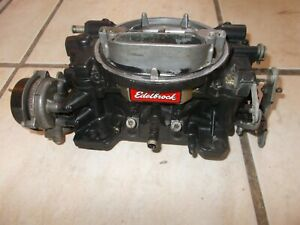 Edelbrock 1406 2053 Performer Series Carburetor 600 Cfm Electric Choke