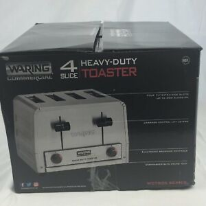 New Commercial Waring Wct805 4 Slice Heavy Duty Pop up Toaster 208v