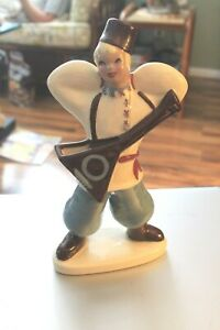 CALIFORNIA POTTERY YOUNG MAN WITH GUITAR FIGURE MADE BY YONA