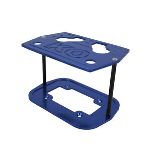 Blue Aluminum Billet Milled Hold Down Battery Bracket Tray Fit For Optima