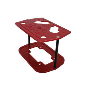 Red Aluminum Billet Milled Hold Down Battery Bracket Tray Fit For Optima