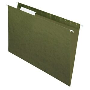 Office Depot Brand Hanging Folders 1 3 Cut Legal Size Green 25 pk
