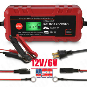 6v 12v Supply Automotive Smart Battery Charger Maintainer For Car Truck Motor