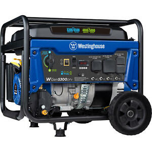 Westinghouse 6 600 w 240v Portable Rv Ready Gas Powered Generator With Wheel Kit
