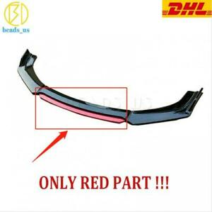 Red Head Front Bumper Lip Splitter For 2013 2015 9th Honda Civic Sedan Si 1pcs